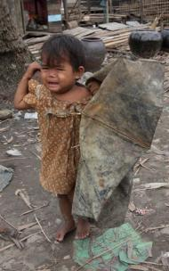 A victim of Cyclone Nargis - the single deadliest natural disaster of 2008.