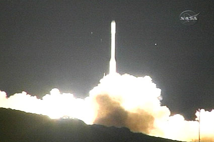 Launch of the Orbiting Carbon Observatory (OCO) satellite from Vandenberg Air Force Base in California on February 23, 2009