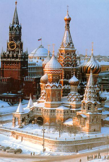 Snow blankets the center of Moscow in this file photo from 2007. If the mayor of Moscow has his way, the city will look much different this winter.