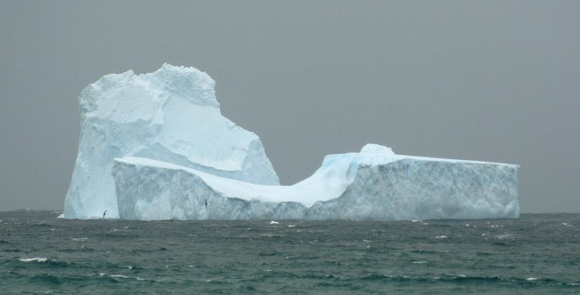 A massive iceberg drifts off the southern coast of Australia, promising tourists and beach-goers an amazing sight should it drift closer.  Scientists expect the iceberg to slowly shrink and break apart in warmer ocean waters.