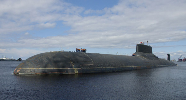 File:  The Russian submarine Dmitry Donskoi launched an intercontinental ballistic missile on the morning of December 9, 2009.