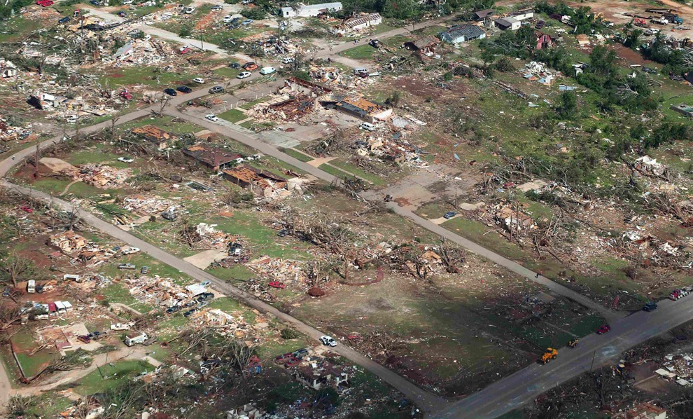 Destruction in Tuscaloosa, Alabama following the April 28, 2011 tornado.